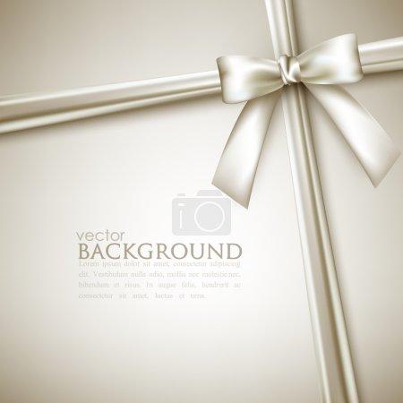 Illustration for Elegant background with white bow - Royalty Free Image