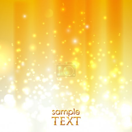 Illustration for Abstract orange background with sparkles - Royalty Free Image