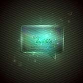 Zelené pozadí abstraktní s skleněnou průhlednou bublinu
