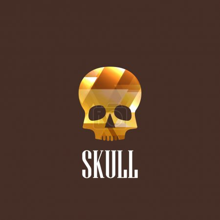 Illustration with skull icon