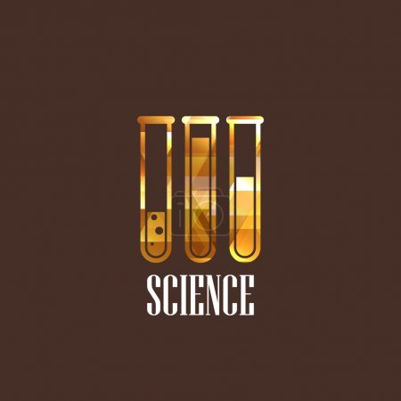 Illustration for Illustration with laboratory equipment icon - Royalty Free Image