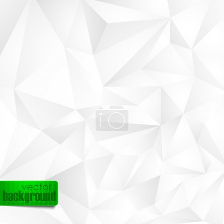 Illustration for Abstract background with white triangles - Royalty Free Image