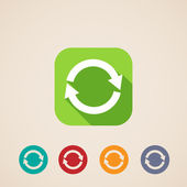 Flat icons for web and mobile applications with reload arrows