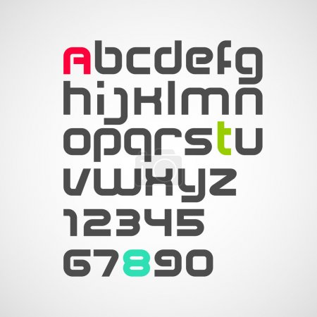 Alphabet. vector font