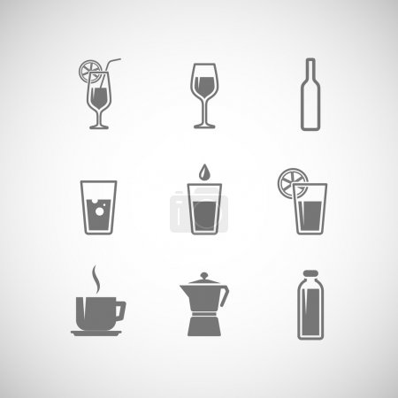 Icons beverages