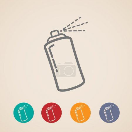 Illustration for Set of aerosol spray can icons - Royalty Free Image