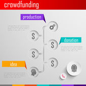 Infographic crowdfunding illustration