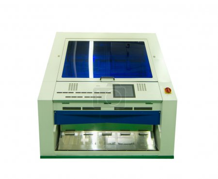 Factory equipment. color screening machinery on white background