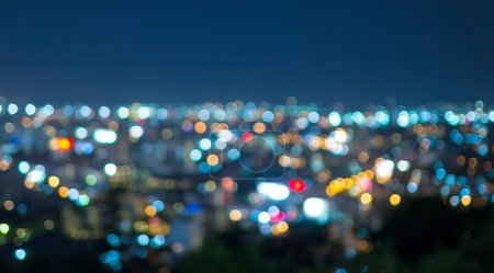 Photo for Pattaya cityscape at twilight time, Blurred Photo bokeh - Royalty Free Image