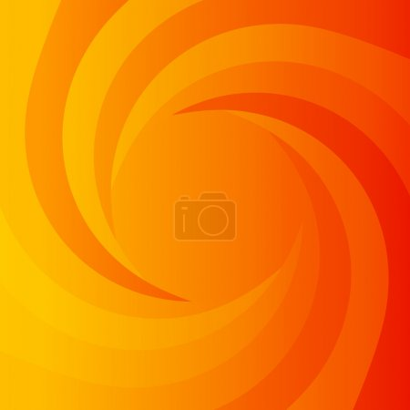Abstract orange power background
