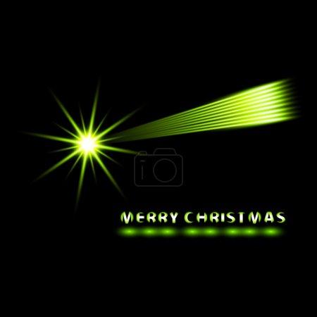 Illustration pour Joyeux Noël carte vectorielle. Comète de Noël éclatante . - image libre de droit