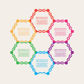 Decorative color infographics