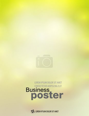 Illustration for Poster design template or banner in spring colors. Flyer abstract content background. - Royalty Free Image