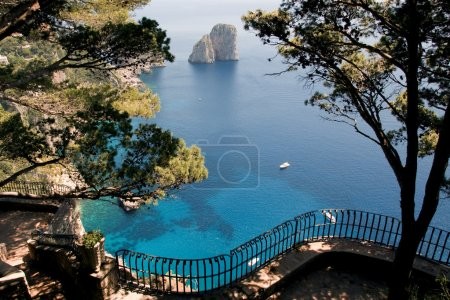 View from the cliff on the island of Capri