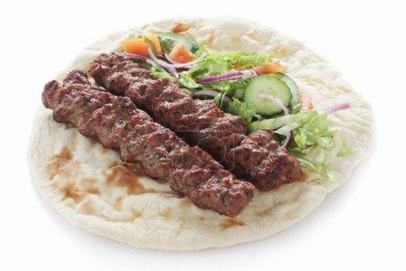 Indian Lamb Shish Kofte Kofta Kebab naan sandwich