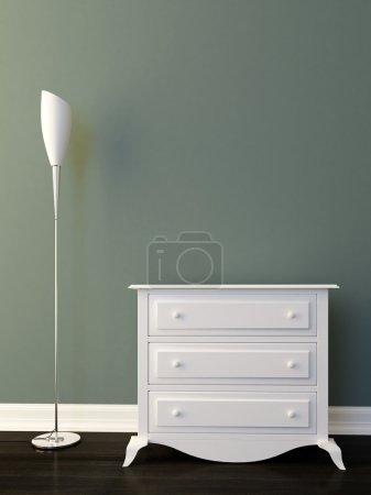 Foto de Retro diseño interior con lámpara y gabinete - Imagen libre de derechos