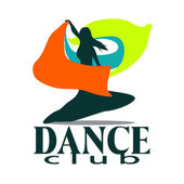 Dance club vector logo