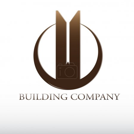 Real estate building vector logo...