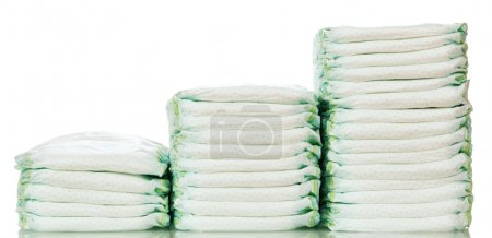 Steps from different stacks of diapers
