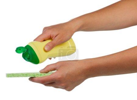 Bottle and sponge