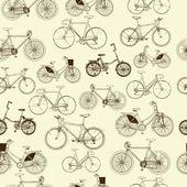 Bicycles seamless pattern