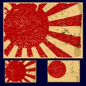 Japan grunge flag retro series