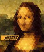 Mona Lisa on stylized background