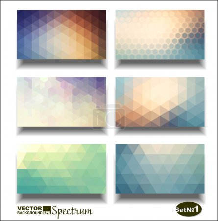 Illustration for Vector banner set. Abstract header vector background . Triangle seamless banners. Geometric shapes. You can place your message above triangles rectangle. - Royalty Free Image