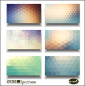 Vector banner set Abstract header vector background  Triangle seamless banners Geometric shapes You can place your message above triangles rectangle