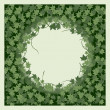 Ivy. Seamless pattern with round frame...