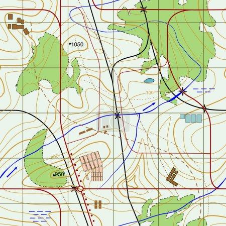 Carte topographique abstraite sans couture .