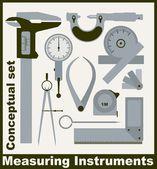 Measuring instruments  conceptual vector set