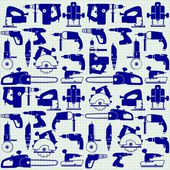 Power tools on graph paper seamless pattern