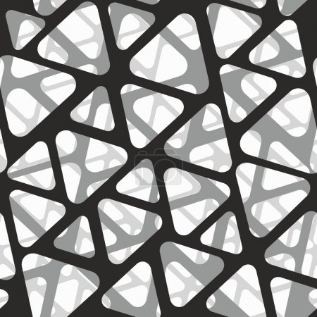 Illustration for Vector seamless pattern. Modern stylish 3d texture of mesh. - Royalty Free Image
