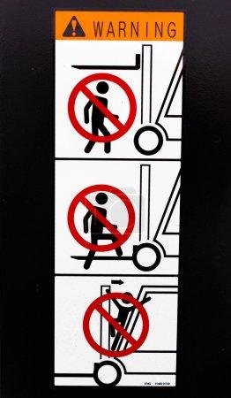 Photo pour Signal de sécurité pour chariot élévateur - image libre de droit