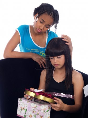 Photo for Young girl comforting girl with a heartache - Royalty Free Image