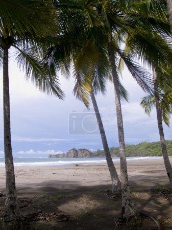 Beautiful tropical beach near Samara in Costa Rica