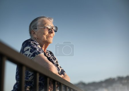 Senior woman looking forward