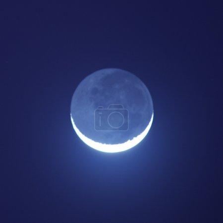 Blue moon shining in the night