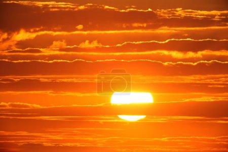 Photo for Scenic orange sunset sky background. - Royalty Free Image