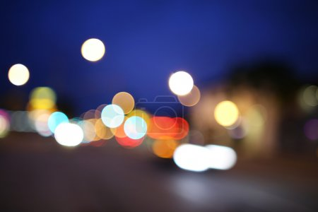 Defocused night street lights background