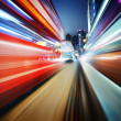 Dynamic red and blue motion blur abstract backgrou...