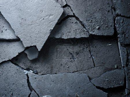 Photo for Broken asphalt background texture. Closeup. - Royalty Free Image