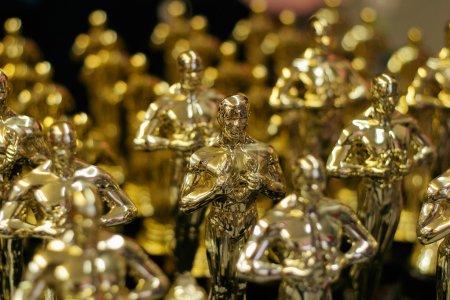 Array of golden statues