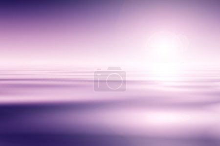 Photo for Beautiful Purple Water And Sky Background - Royalty Free Image