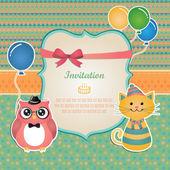Narozenin strany Pozvánka card design