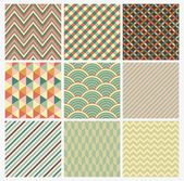 Seamless geometric abstract background set Patterns Vector