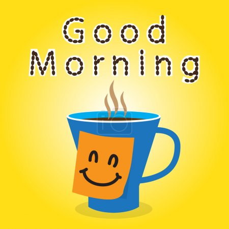 Good morning with coffee and sticky note for you