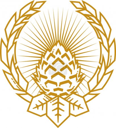 Wheat and Hop Clove Emblem