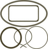 Clip art collection of various frames of rope